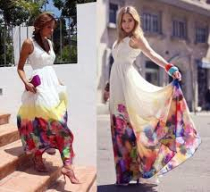watercolor bridesmaid dresses mango hem watercolor floral maxi dress eu m us 6 watercolor