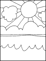 sun ocean free printable coloring pages coloring