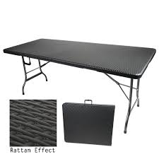 6ft folding table rattan effect available at this is it stores uk