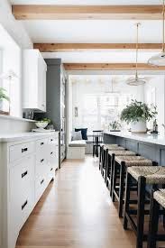 white kitchen cabinets with wood beams kitchen wood beams design ideas