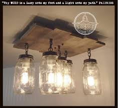 mason jar ceiling light with reclaimed wood u2013 the lamp goods