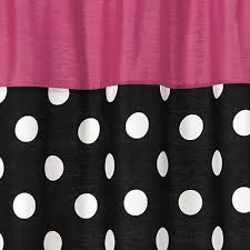 Pink Black And White Shower Curtain Black White Polka Dot Fabric Shower Curtain With Pink
