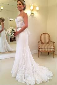 lace mermaid wedding dress delicate sweetheart sleeveless lace mermaid wedding dress with
