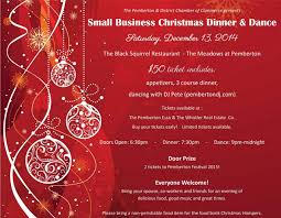 Dinner Party Agenda - 2014 pemberton small business christmas party and dance