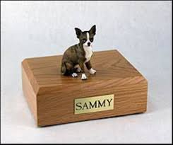 pet cremation urns chihuahua dog pet cremation urn brindle chihuahua figurine