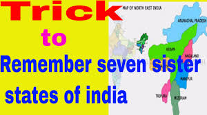 India Map Of States by Seven Sister State Of India For Ssc Upsc Uppsc In Hindi English