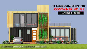 prefabricated home plans modular shipping container 4 bedroom prefab home design with floor