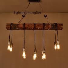 Vintage Pendant Light Fixtures Shop Loft Style Creative Wooden Droplight Edison Vintage