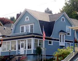 blue dutch colonial revival house astoria oregon dutch