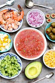 toppings bar classic gazpacho a toppings bar makes it a meal or a party