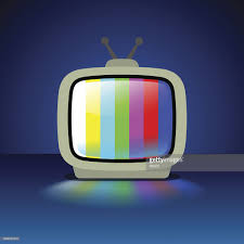 test pattern media tv set with test pattern vector art getty images