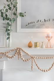 wooden bead garland diy craft beaded garland