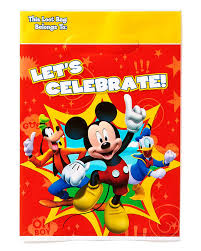 mickey mouse clubhouse party supplies mickey mouse clubhouse treat bags pack of 8 party