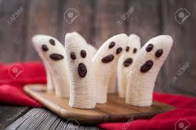 homemade halloween scary banana ghosts monsters with chocolate