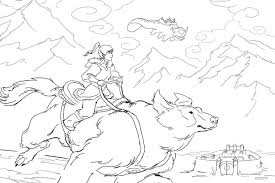 this is what a legend of korra coloring book looks like
