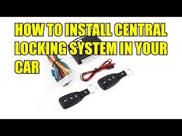 how to install central locking system from ebay inside car