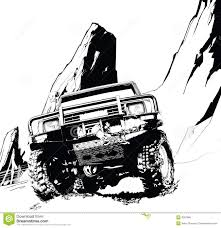 jeep cartoon offroad road vehicle clipart