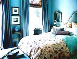 bedroom decor interior design blue sea color of wall paint with