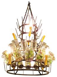 Wine Bottle Chandeliers Large Iron Wine Bottle Chandelier Metal Bar French Country