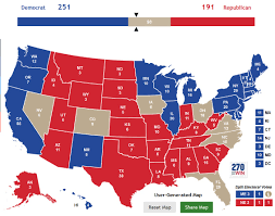 Red States Blue States Map by The Map That Should Scare The Hell Out Of Donald Trump