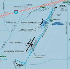 detroit metro airport map airport parking map detroit airport parking map jpg