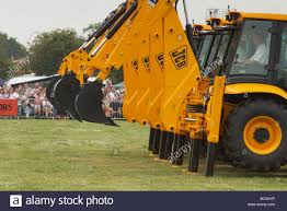 jcb u0027dancing diggers u0027 acrobatic display at the derbyshire county