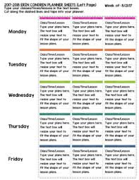 erin condren teacher planner lesson plan template editable by