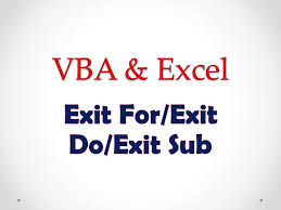 Excel Vba On Error Resume Next Vba U0026 Excel Lesson 4 Exit For Exit Do Exit Sub Youtube