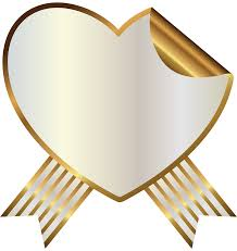 Seal Ribbon White And Gold Heart Seal With Ribbon Png Clipart Image Gallery