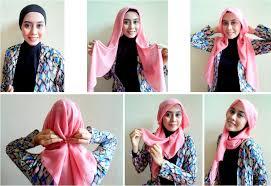 tutorial hijab pashmina kaos yang simple tutorial hijab pashmina kaos terbaik modelbusana
