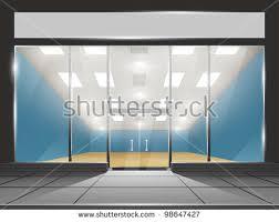 doors with glass windows shop glass windows doors front view stock vector 98647427