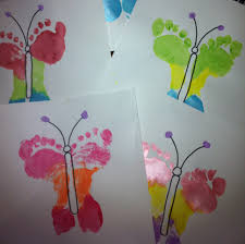 footprint butterflies u2013 great mother u0027s day idea cr8tive life