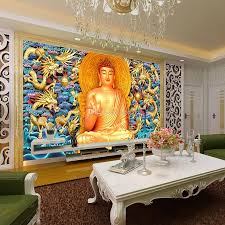 3d Wallpaper For Bedroom by Golden Buddha Wallpaper Gold Embossed Dragon Wall Mural 3d