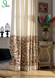 cotton cloth memory ring line dribbling embroidery curtain
