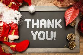 thank you and best wishes for the festive season