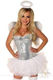halloween dance costumes 4 pc glitter angel costume amiclubwear costume online store
