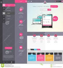 website menu design design of the menu for a website creative web design stock vector