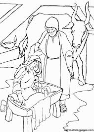 nativity color pages kids coloring