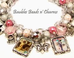 Paris Themed Charm Bracelet Literary Charm Bracelets Personalized By Baublesbeadsncharms