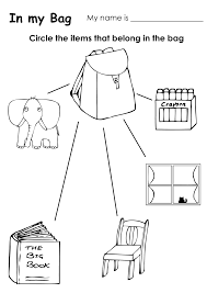 classroom objects worksheets for preschoolers class objects