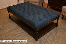 How To Make An Ottoman From A Coffee Table Diy Ottoman Coffee Table Finished