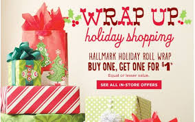 hallmark wrapping paper buy one get one for 1