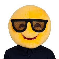 Funny Face Halloween Masks Adults Plush Emoticon Emoji Smiley Face Funny Head Mask