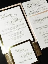 glitter wedding invitations blush and gold glitter wedding invitation modern wedding