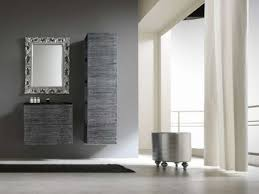 Furniture Bathroom Interesting Decorating Ideas Using Rectangular Brown Wooden Vanity