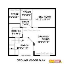 home maps design 100 square yard india house plan for 22 feet by 35 feet plot plot size 86 square yards
