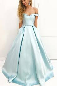 light blue sleeveless dress light blue a line brush train off shoulder sleeveless prom dress