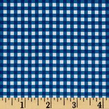 fleece backed tablecloth gingham blue discount designer fabric
