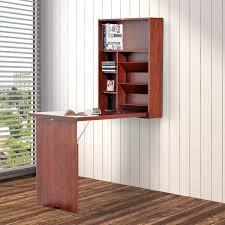 Fold Out Convertible Desk Homcom Wall Mounted Desk Fold Out Convertible Table Shelf Office