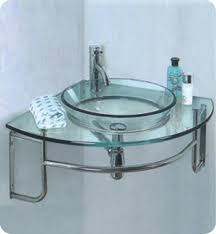 Glass Bathroom Sink Vanity 24